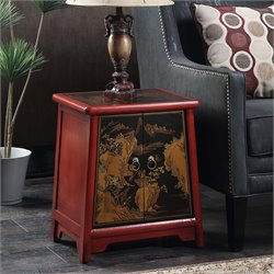 Cabinet End Table in Red