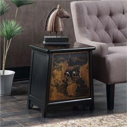 Cabinet End Table in Black