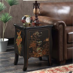 3 Drawer End Table in Black