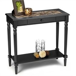 Rectangular Hall Table in Black