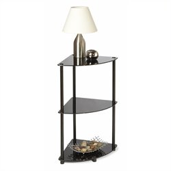 3 Tier Corner Shelf in Black