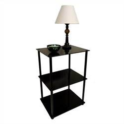 3 Tier Lamp Table in Black