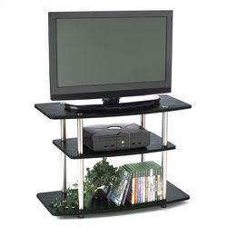 3-Tier TV Stand in Black