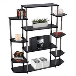 Wall Unit Bookshelf in Black