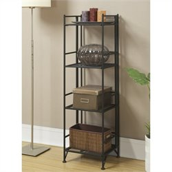 4 Tier Folding Shelf in Black