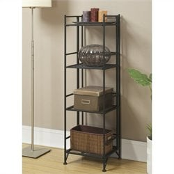 Convenience Concepts XTRA-Storage 4 Tier Folding Shelf in Black