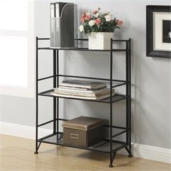 Convenience Concepts XTRA-Storage 3 Tier Wide Folding Shelf in Black