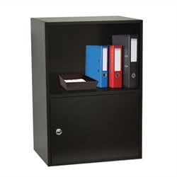 Convenience Concepts XTRA-Storage 1 Door Cabinet in Black