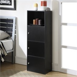 3 Door Cabinet in Black
