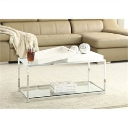 Glass Coffee Table in White