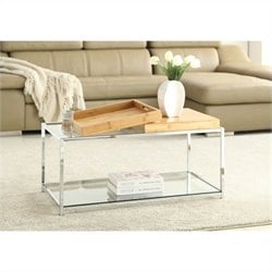 Glass Coffee Table in Bamboo