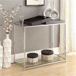 Glass Console Table in Black