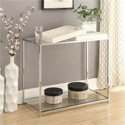 Glass Console Table in White