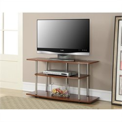 3 Tier Wide TV Stand - Cherry