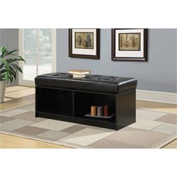 Broadmoor Storage Ottoman - Black