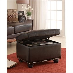 5th Avenue Storage Ottoman - Espresso