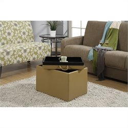 Accent Storage Ottoman - Tan
