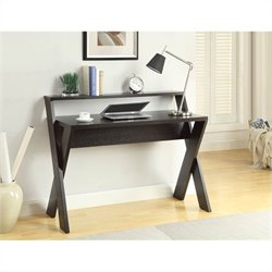 Desk with Shelf - Espresso