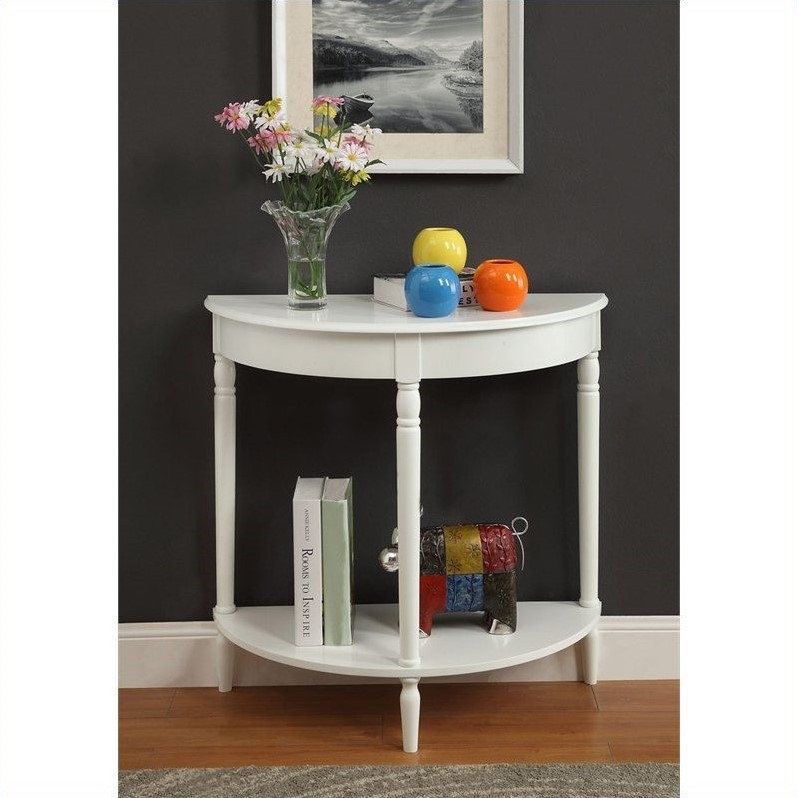 Entryway table white 6042182w for White foyer table
