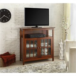 Convenience Concepts Designs2Go Big Sur Highboy TV Stand - Cherry