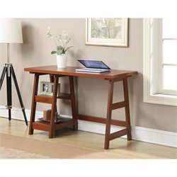 Convenience Concepts Designs2Go Trestle Desk - Cherry