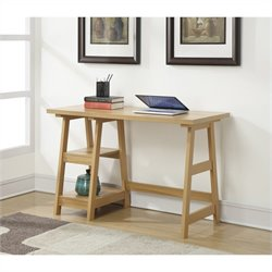 Convenience Concepts Designs2Go Trestle Desk - Light Oak