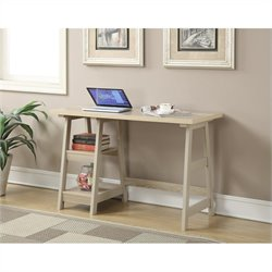 Convenience Concepts Designs2Go Trestle Desk - Weathered White