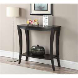 Console Table with Shelf - Espresso