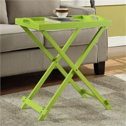 Folding Tray Table in Green