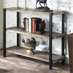 3 Tier Console Bookcase in Black Matte