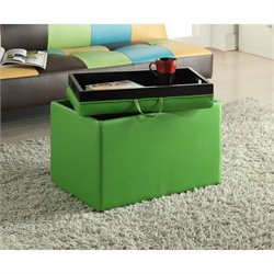 Accent Storage Ottoman in Green