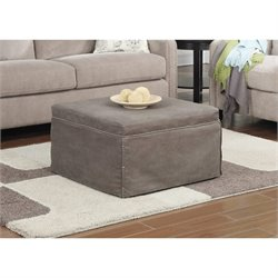 Twin Folding Bed Ottoman in Taupe