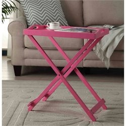 Folding Tray Table in Pink