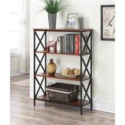 4 Tier Bookcase in Black and Cherry