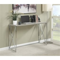 Convenience Concepts Designs2Go Belaire Console Table in Chrome