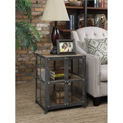 Convenience Concepts Designs2Go Viking End Table in Black and Natural