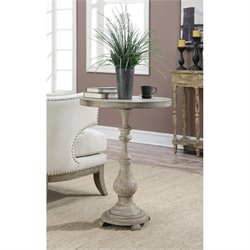 Spindle Accent Table in Antique Wood