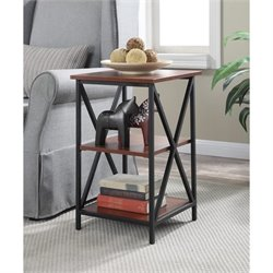 3 Tier End Table in Black and Cherry