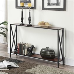 Console Table in Black and Cherry
