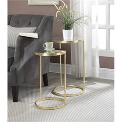 Nesting Mirror End Tables in