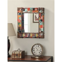 Square Mirror in Multicolor