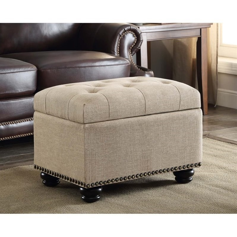 5th avenue storage ottoman in tan 163010ft for Furniture 5th avenue