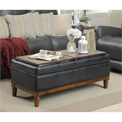 Place Ottoman in Black