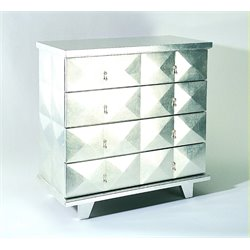 Wayborn Hollywood Bachelor's Chest in Silver Leaf
