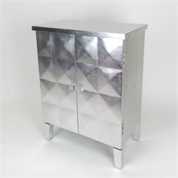 Wayborn Double Door Cabinet in Silver Leaf