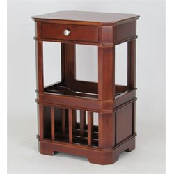 Wayborn Magazine Rack End Table in Brown