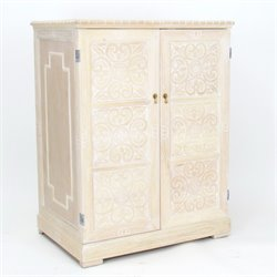 Wayborn Benfu TV Armoire in Whitewash