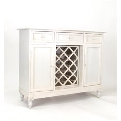 Wayborn Wine Rack Sideboard in Whitewash