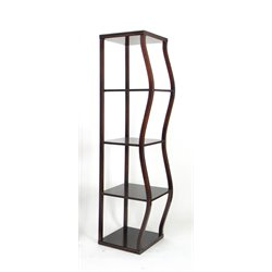 Wayborn Riaze 4 Shelf Narrow Etagere in Brown