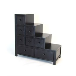Wayborn Suchow Reversible Step Chest in Black